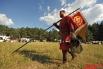 Также достоверно были воспроизведены знамена и другие военные символы ушедшей эпохи.