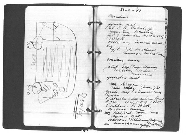 Эскизы T1 из блокнота Бена Пона  Идея создания Transporter принадлежит голландскому импортёру Volkswagen Бену Пону. 23 апреля 1947 года Бен Пон увидел на заводе Фольксваген в Вольфсбурге автоплатформу, сооружённую работниками завода на базе Жука. Пон ре