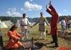 Помимо ритуалов зрителям также были продемонстрированы и бытовые обычаи славянских народов.