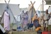 На одной из площадок фестиваля было воспроизведено поселение славянских народов.