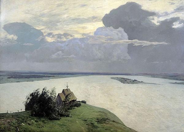 Исаак Левитан - Над вечным покоем (1894)