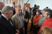Президент РФ Владимир Путин во время встречи с жителями Хабаровска, пострадавшими от наводнения и временно проживающими в краевом Дворце культуры и спорта «Русь»