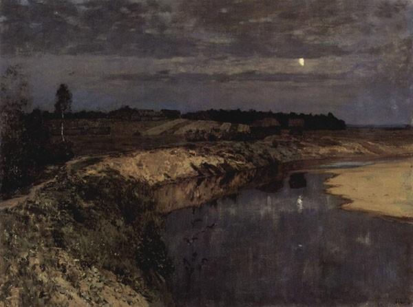 Исаак Левитан - Тихая обитель, 1890.
