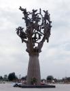 Памятник «Древо скорби» был установлен в Беслане на мемориальном кладбище «Город ангелов» почти через год после трагедии - в августе 2005 года. Монумент, выполненный скульпторами Аланом Корнаевым и Заурбеком Дзанаговым, сделан из бронзы.
