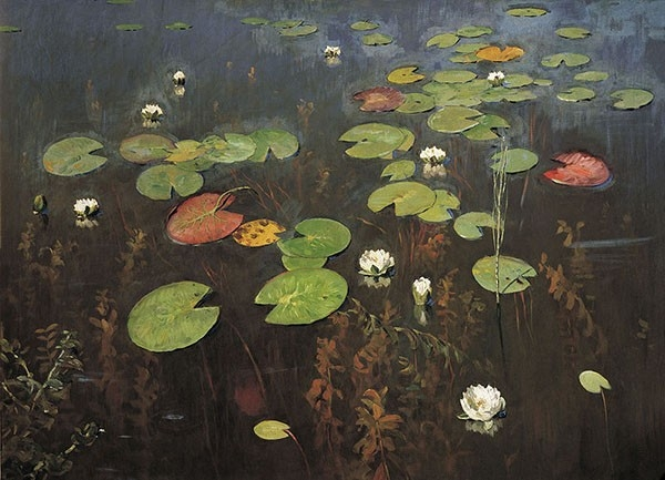 Исаак Левитан - Лилии. Ненюфары, 1895.