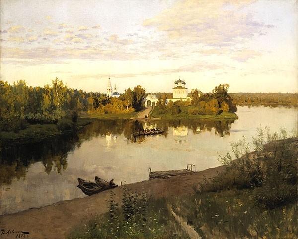 Исаак Левитан - Вечерний звон, 1892.