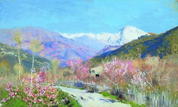 Исаак Левитан - Весна в Италии, 1890.