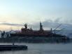 Атомный ледокол «Россия» был заложен на Балтийском заводе им. Серго Орджоникидзе в 1981 году, а на воду спущен в ноябре 1983 года. Этот ледокол стал лишь четвёртым атомным судном и на протяжении последних лет оставался самым старым действующим судном с яд