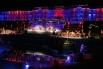 Лазерное шоу в рамках представления для глав государств и правительств «Группы двадцати» в Петергофе.