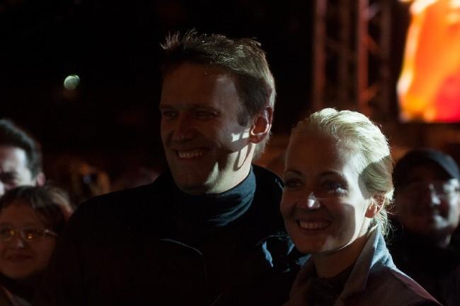 Навальный с супругой Юлией