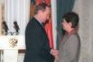 В 1999 году Ирина Роднина была награждена орденом «За заслуги перед Отечеством» III степени. Кроме того, она дважды стала лауреатом Национальной премии общественного признания достижения женщин России «Олимпия». На фото: Ирина Роднина с Владимиром Путиным.