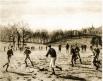 Футбольный матч в одной из старейших британских школ - Хэрроу, 1887 год.