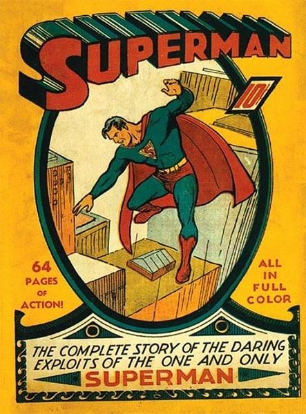 Летом 1939 года DC Comics запустила отдельную серию комиксов о приключениях Супермена, ставшего в последствии одной из икон поп-культуры. Супермена придумали писатель Джерри Сигел и художник Джо Шустер. Первый выпуск комиксов о Супермене оценивается в $60