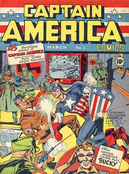 С марта 1941 года компания Marvel Comics издаёт серию графических новел о Капитане Америка, созданном писателем Джо Саймоном и художником Джеком Кирби. За это время было проданом более двухсот миллионов копий комиксов Captain America. Капитан Америка был