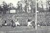Финал Кубка Англии по футболу 1905 года - «Астон Вилла» забивает в ворота «Ньюкасла».