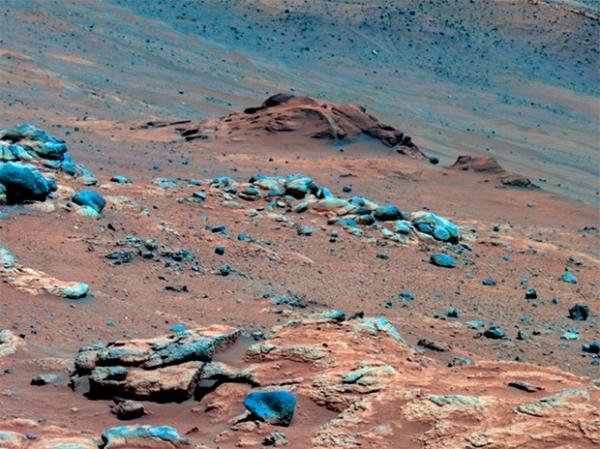 Поверхность Марса. Фотография сделана марсоходом «Спирит» в конце 2007 года.