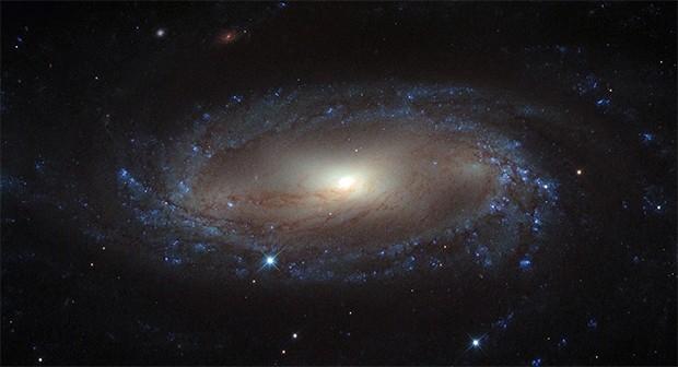 Спиралевидная галактика IC 2560. Расположена в 110 млн световых лет от Земли в галактике Насос. Фото сделано телескопом «Хаббл», опубликовано в сентябре 2013 года.