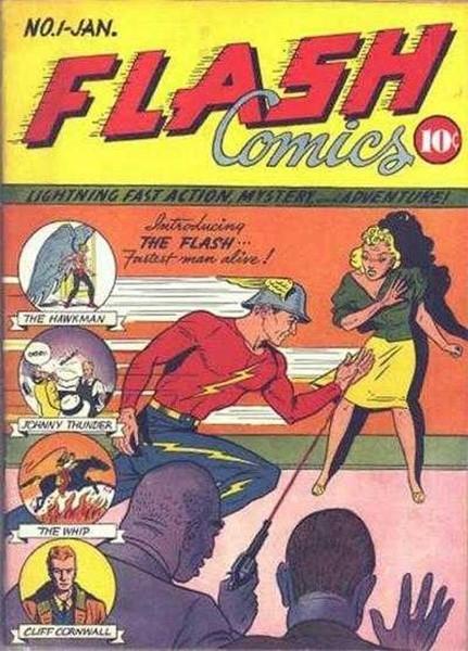 В январе 1940 года DC Comics, известная ранее созданием Бэтмена, начала выпуск графических новелл о Флэше, супергерое, способном развивать сверхзвуковую скорость и использовать сверхчеловеческие рефлексы. Персонаж создан писателем Гарднером Фоксом и худож