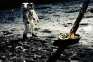 Астронавт Базз Олдрин на Луне, миссия «Аполлон 11», 20 июля 1969 года.