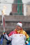 По Красной площади факел также пронёс принц Монако Альберт II