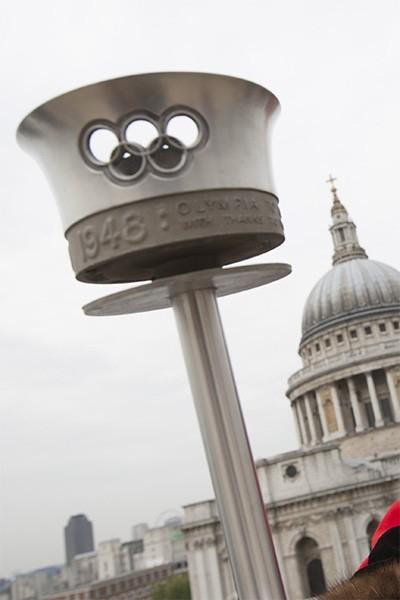 Факел первой Олимпиады в Лондоне - Игры прошли в 1948 году.