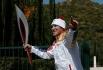 Среди россиян первым чести пронести олимпийский огонь удостоился хоккеист Александр Овечкин. Чемпион мира нёс факел из Олимпии, ещё до официального старта эстафеты.
