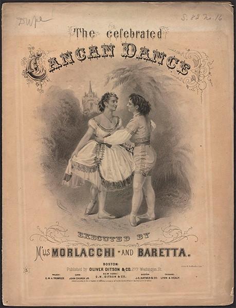 Афиша Паоло Гьорци для выступления мадемуазель Морлаччи и Баретта в США, 1868 год.