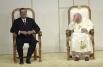 Иоанн Павел II и президент Мексики Висенте Фокс Кесада. 31 июля 2002 года.