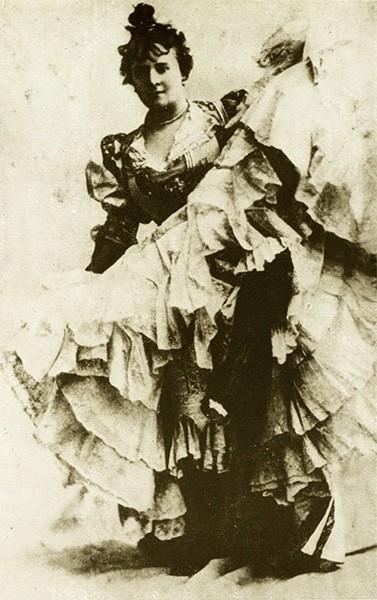 Ла Гулю (настоящее имя – Луиза Вебер), 1890 год. За свои выступления в «Мулен Руж» стала символом канкана, впоследствии её называли королевой Монмартра.