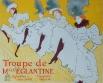 Афиша выступления труппы мадемуазель Эльянтин, Анри де Тулуз-Лотрек, 1895 год.