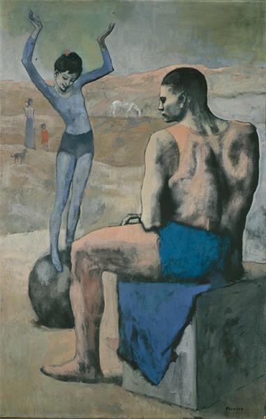 Пикассо считал, что «кто грустен, тот искренен», но его отношение к миру меняется после переезда в Париж в 1904 году. В знаменитом монмартрском Бато-Лавуар художник находит единомышленников, и вместо бродяг и нищих всё чаще в его работах просвечивают мир