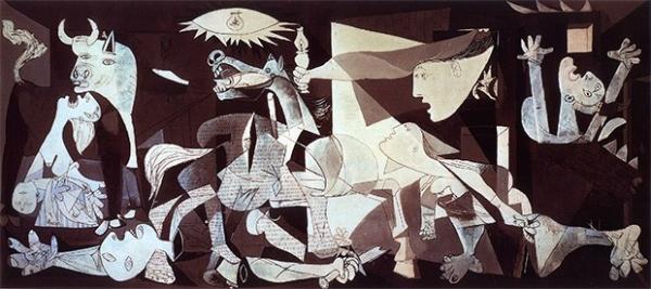 Летом 1937 года Пабло Пикассо создал свою, возможно, самую известную картину – «Герника». Это полотно художник нарисовал по заказу правительства Испанской Республики для Всемирной выставки в Париже. Приёмами кубизма Пикассо изобразил бомбардировку Герники