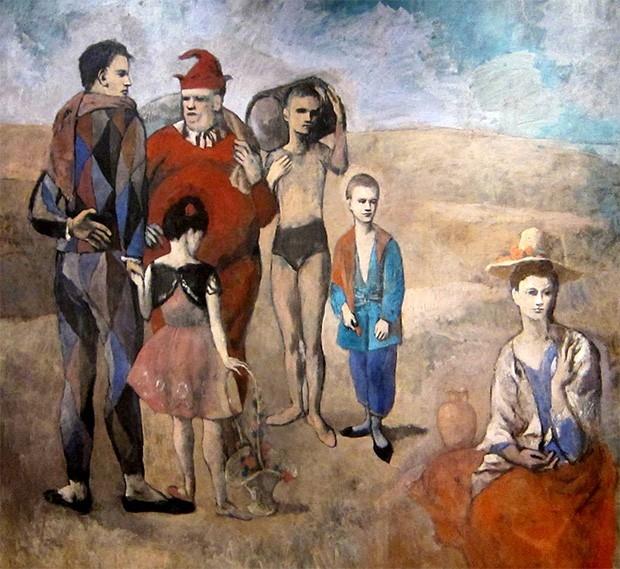 Новые знакомства привели к тому, что в картинах «розового» периода Пикассо его картины становятся ярче, художник активнее работает с цветом, а палитра его художественных приёмов начинает заметно расширяться.