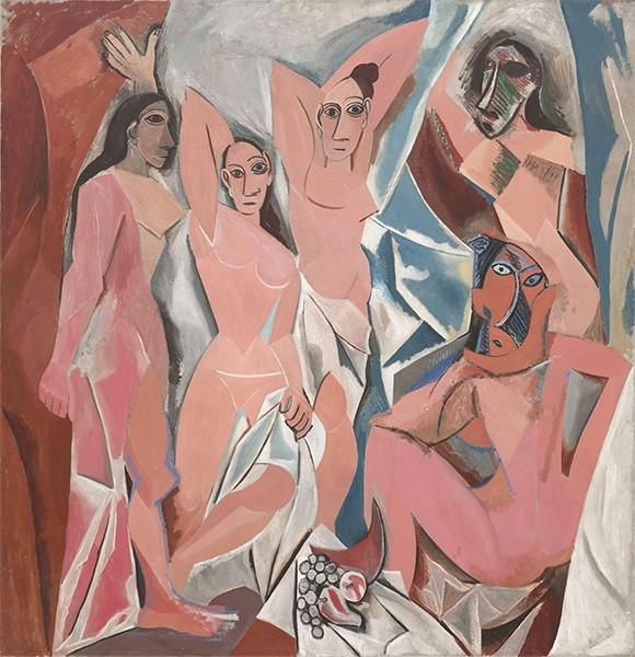 Спустя пару лет экспериментов с цветом и содержанием Пикассо начинает поиски новой формы. В 1907 году под влиянием «Купальщиц» Поля Сезанна Пикассо создал «Авиньонских девиц» - свою первую работу кубического периода.