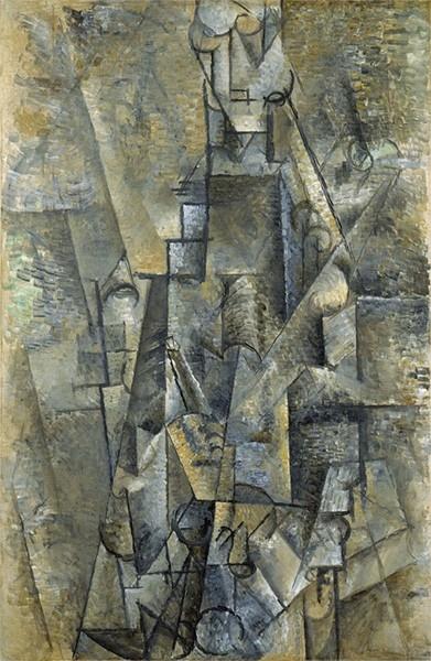Аналитический кубизм позволяет Пикассо отточить собственный почерк, художник находит в себе силы формировать собственное видение реальности на своих полотнах. Палитра Пикассо всё больше тяготеет к монохромности, вместе с Жоржем Браком художник добавляет в