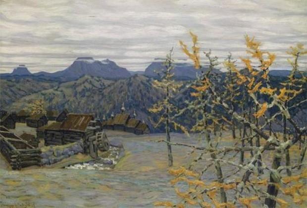 Картина Аполлинария Васнецова, младшего брата Виктора, оценивается несколько выше – ожидаемая стоимость пейзажа «Деревня в Уральских горах» находится в диапазоне 600 000 – 800 000 фунтов стерлингов. В 1914 году это полотно было куплено на Балтийской выста