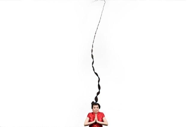 Самыми длинными волосами в мире обладает китаянка Се Цюпин - она не стриглась с 1973 года, и сейчас её волосы достигают в длину 5,627 метра.