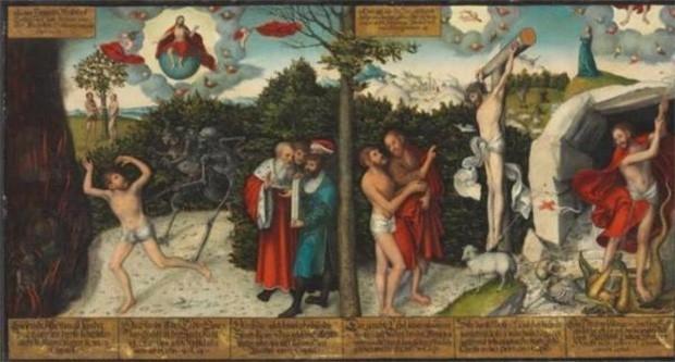 На аукционе Christie's впервые более чем за сто лет будет выставлен на продажу одна из важнейших работ эпохи Реформации – «Закон и благодать» немецкого художника Лукаса Кранаха Старшего. Предполагается, что это полотно было выполнено по совету Мартина Лют