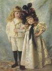 На выставке также будет представлен двойной портрет работы Константина Маковского, на котором художник изобразил своих детей. Картина оценивается в 250 000 – 350 000 фунтов.
