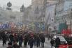 Колонны выходят на улицу Крещатик. По оценкам милиции протестующих было около 20 тыс. человек