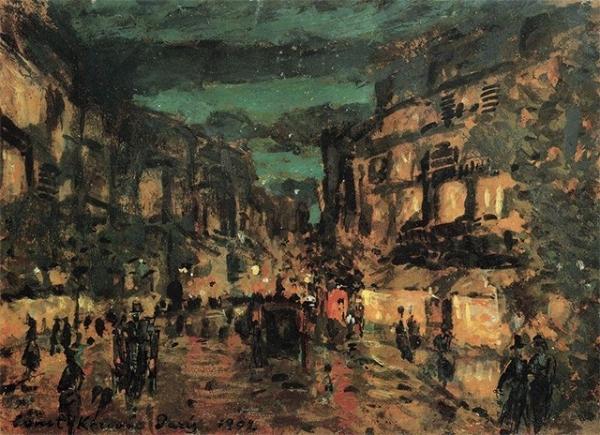 В тоже время Коровин возобновляет путешествия по Европе, но особенным местом для него остаётся Париж, где художник увлёкся импрессионизмом. В то время Ренуар и Моне продолжали активно писать, и под их влиянием Коровин создаёт целый ряд городских пейзажей.