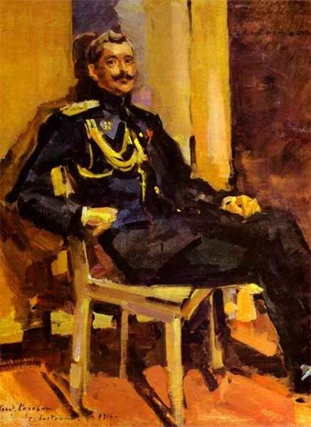 С наступлением Первой мировой войны Константин Коровин начал работать в штабе русской армии. Художник выполнял роль консультанта по маскировке.