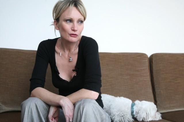 Патрисия Каас во время интервью в 2008 году.