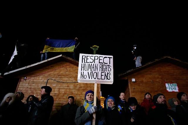 Хотя в Киеве наступило некоторое затишье, митингующие готовы продолжать акции протеста.