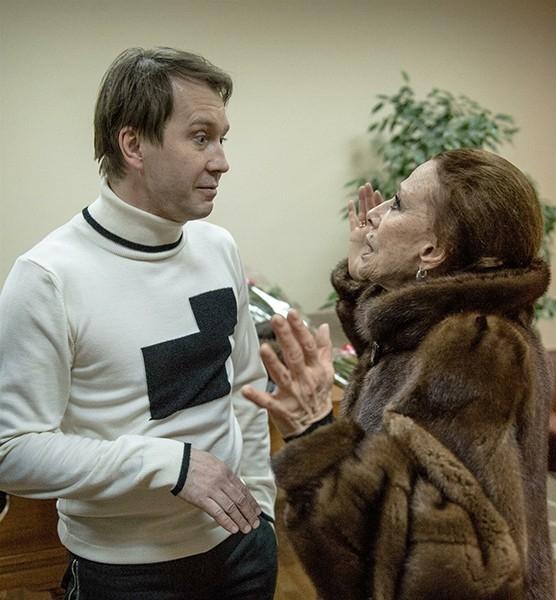 Евгений Миронов и Майя Плисецкая на концерте к 80-летию Родиона Щедрина.