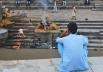 Катманду. Пашипатинадх. Место, где сжигают умерших людей.