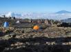 Африка. Восхождение на Килиманджаро. Вдали - вулкан Меру.