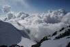 Ак Кемская стена в облаках