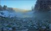 Утро у озера. Голубые озера