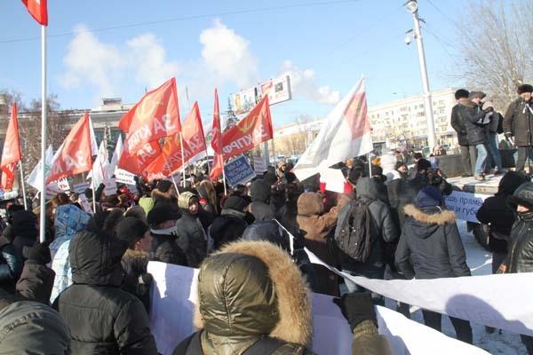 """Митингующие вышли с плакатами """"Мы за честные амфоры"""""""